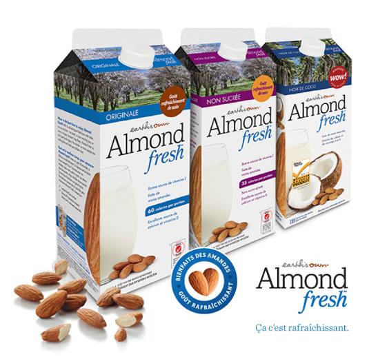 Coupon De 1.50$ Sur Les Produits Earth's Own Almond Fresh!
