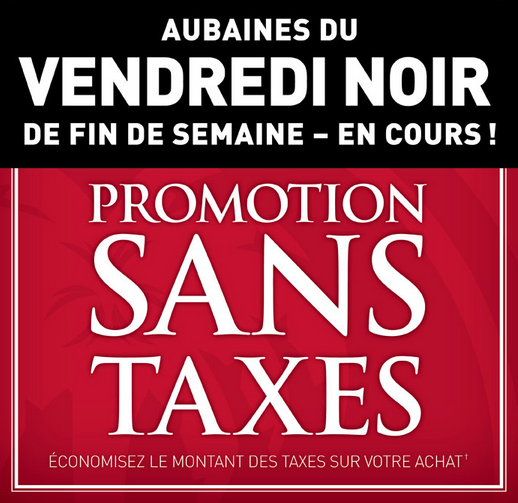 Promotion Sans Taxes Chez Bombay!
