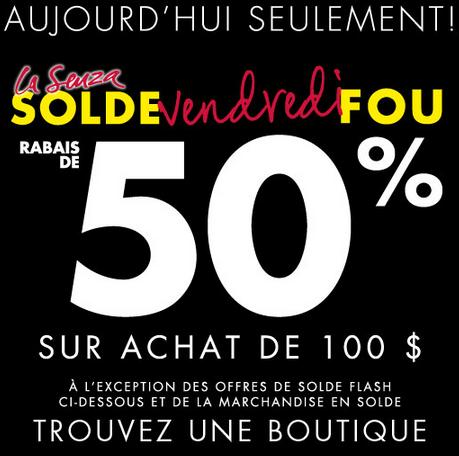 50% De Rabais Lors Du Black Friday Chez La Senza!!