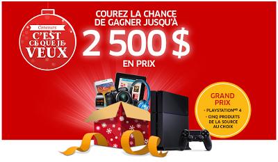 Concours La Source : Gagnez Jusqu'à 2 500$ En Prix Dont Une Playstation 4!