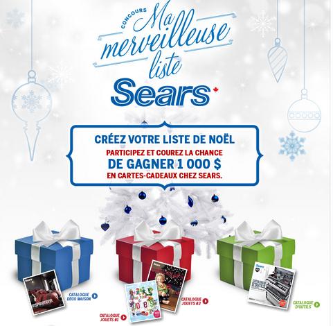 Concours Sears : Gagnez 1 000$ De Cartes-Cadeaux!