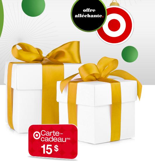 Carte-Cadeau Target De 15$ Avec Tout Achat De 75$