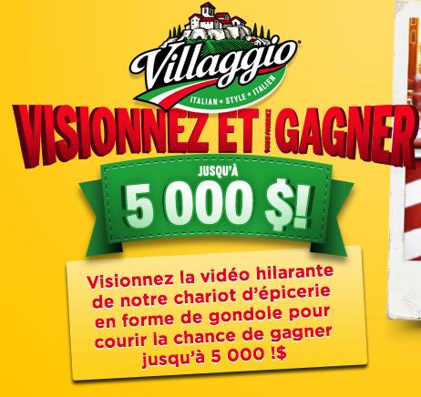 Concours Villagio : Gagnez Jusqu'à 5 000$