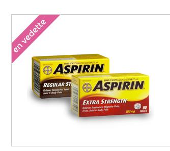 Coupon Rabais De 4$ Sur Aspirine