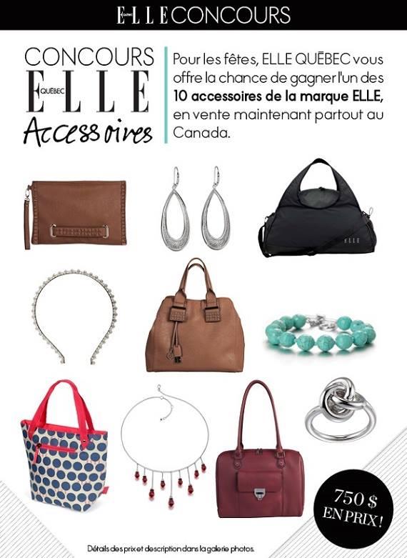 Concours Elle Magazine : Gagnez Un Ensemble De 10 Accessoires Gratuits!
