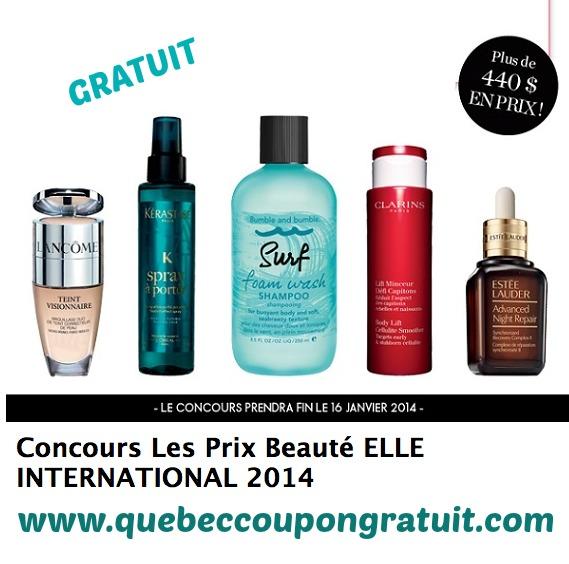 Concours Elle Québec : Gagnez Un Lot De 10 Produits Beauté