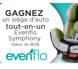 Concours Maman Pour La Vie : Gagnez Un Siège D'auto Evenflo Symphony