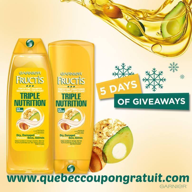 Garnier Fructis Triple Nutrition Pour 99¢ Seulement!