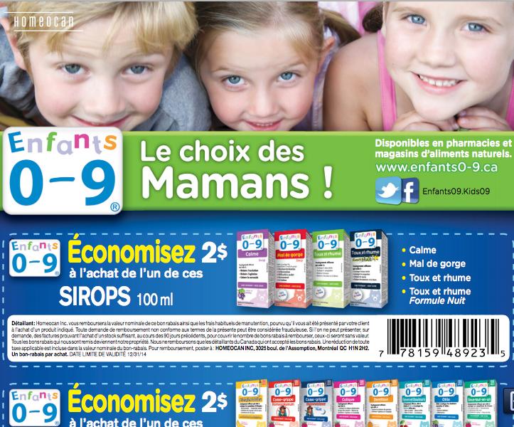 Rabais Postal De 2.00$ Sur Les Produits Naturels Homeocan
