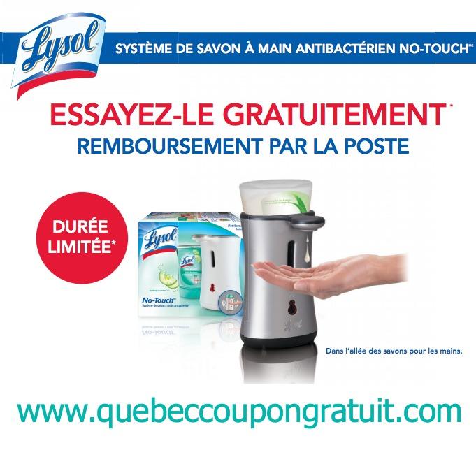 Gratuit : Remise Pour Un Lysol No-Touch Gratuit