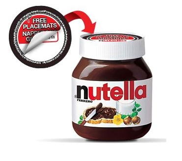 Obtenez 4 Napperons De Table Nutella Gratuits!