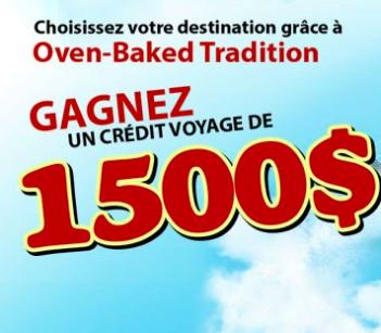 Concours Oven Baked Tradition : Gagnez Un Crédit Voyage De 1500$!