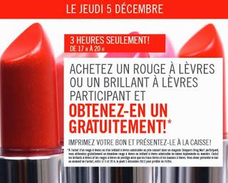 Achetez Un Rouge À Lèvres Et Obtenez En Un Gratuit!