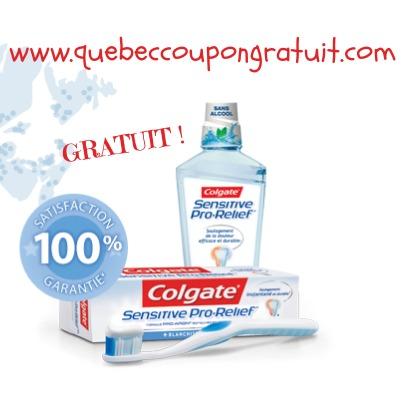 Échantillon Gratuit Du Dentifrice Sensitive Pro-Relief De Colgate