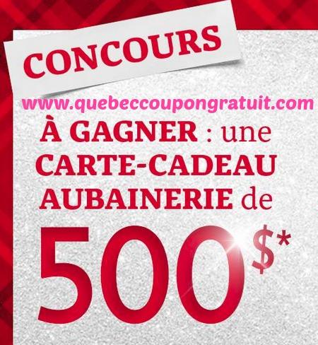 Concours L'aubainerie : Gagnez 500$ De Magasinage