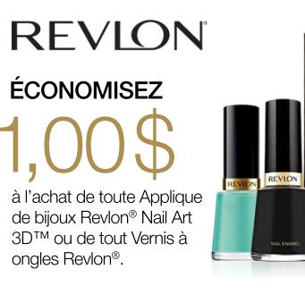 Coupon Rabais De 1$ Sur Le Vernis 3D Jewel De Revlon!