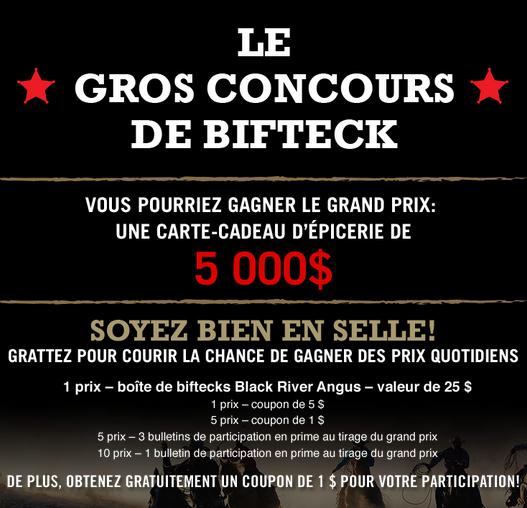 Concours Black River Angus : Gagnez 5 000$ D'épicerie!