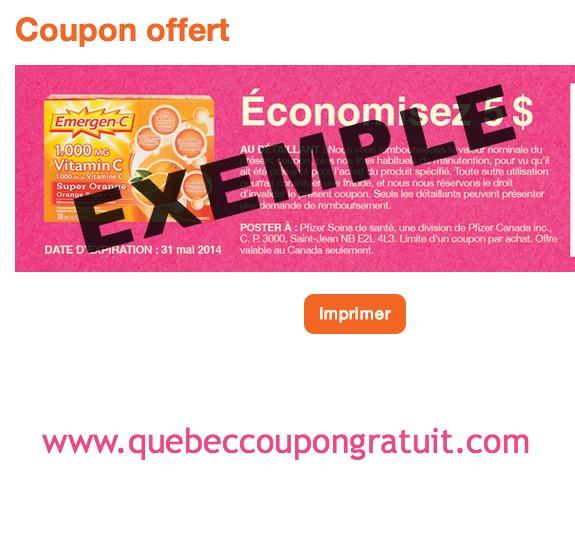 Coupon Rabais De 5$ Sur Les Produits Emergen-C