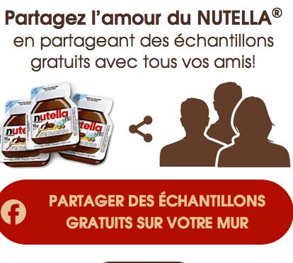 Echantillons Gratuits De Nutella !