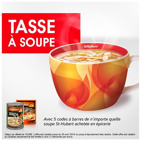 Obtenez Une Tasse À Soupe St Hubert Avec Vos Codes Cup!