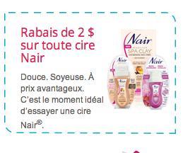 Coupons Rabais Pour 3$ D'économie Sur Les Produits Nair