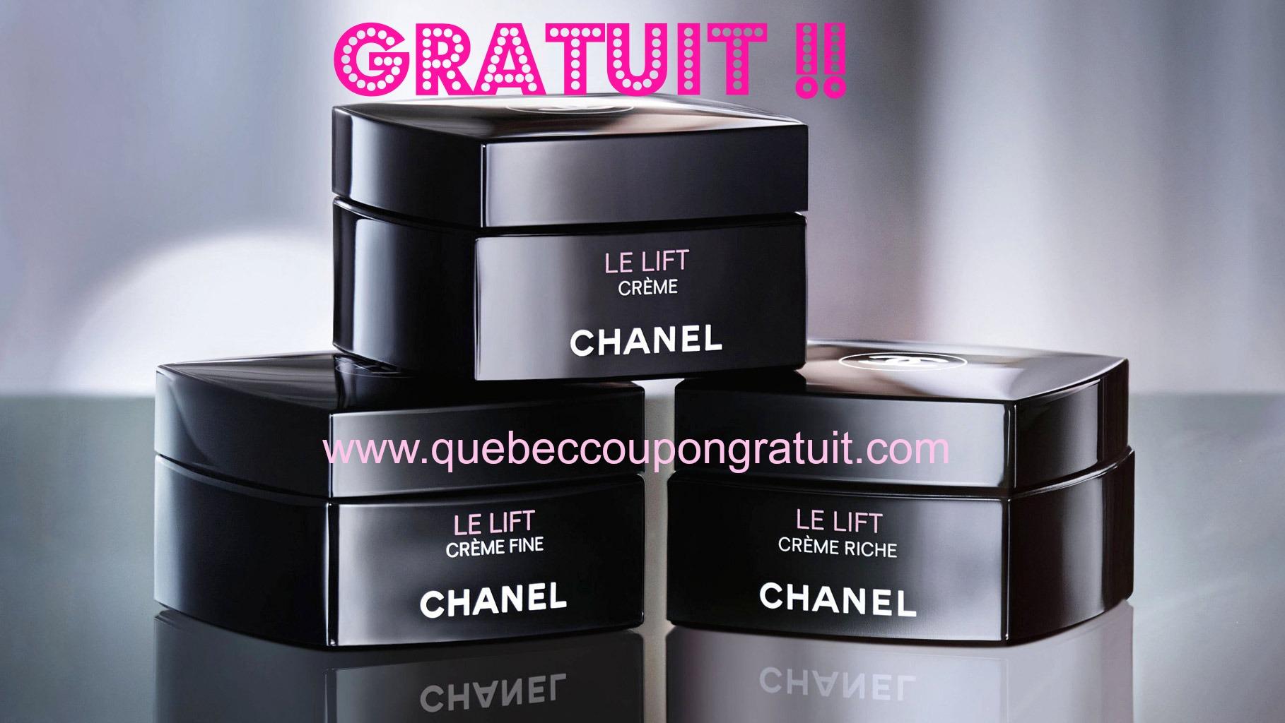 Echantillons Gratuit De Soin «Le Lift» De Chanel !!