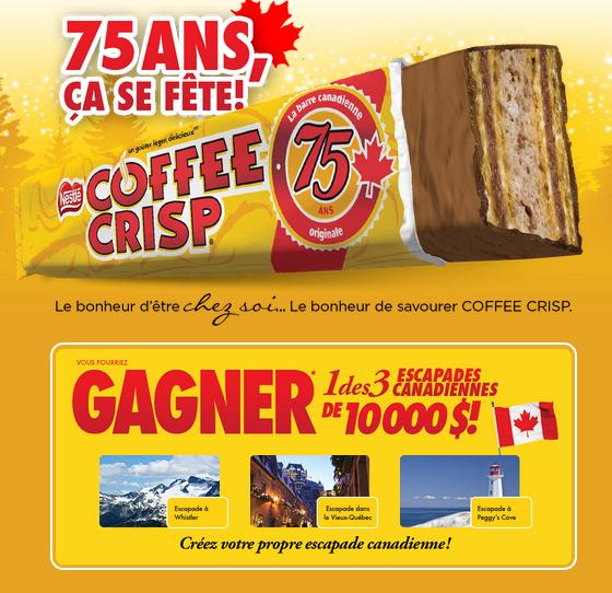 Concours Coffee Crisp : Gagnez Une Escapade Canadienne De 10 000$