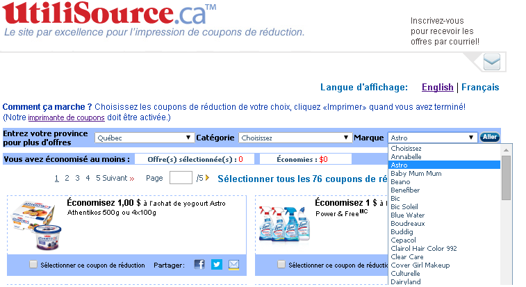 coupon a imprimer, coupons smartsource
