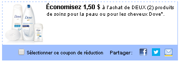 utilisource.ca, coupons en ligne, nons-rabais walmart, dove