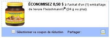 coupon rabais Fleischmann