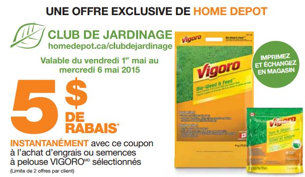 Coupon rabais home d pot sur les produits vigoro - Coupon de reduction office depot ...