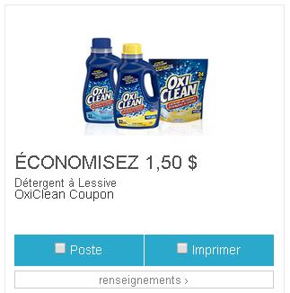 coupon rabais Oxiclean sur save.ca