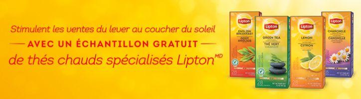 échantillon gratuit lipton