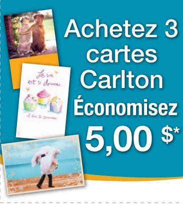 coupon rabais Carlton Canada