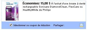 coupon rabais Philips