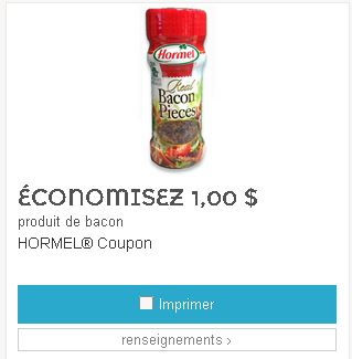 Coupon rabais bacon Hormel