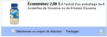 Coupon rabais Glucerna sur Utilisource.ca / Smartsource Canada