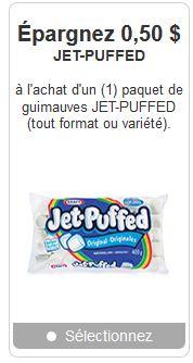 coupon rabais jet-puffed