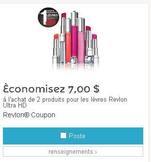 coupon rabais Revlon Canada