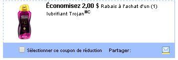 coupon rabais Trojan