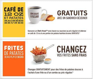 restaurant A&W Canada : Nouveau coupons rabais