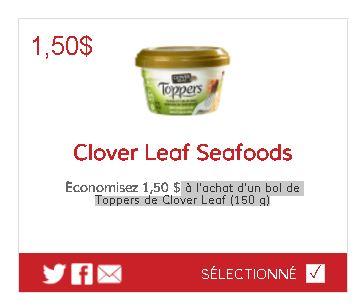 coupon rabais Clover Leaf