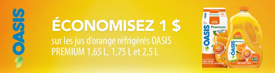 coupon rabais Oasisi Premium à imprimer sur save.ca