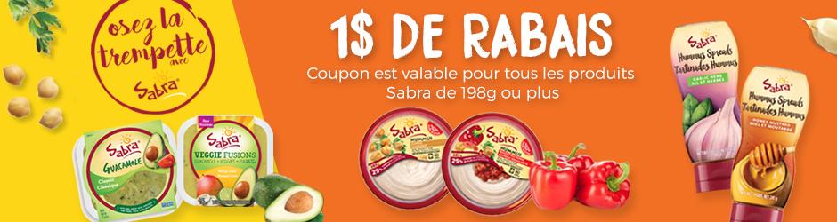 Coupon Rabais Sabra A Imprimer Pour 1$ De Rabais Gratuit