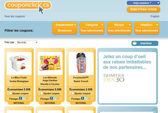 Site de coupons rabais à imprimer CouponClick.CA