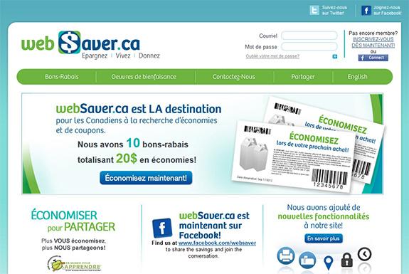 Site de coupons rabais à imprimer et coupons gratuits par la poste WebSaver.CA