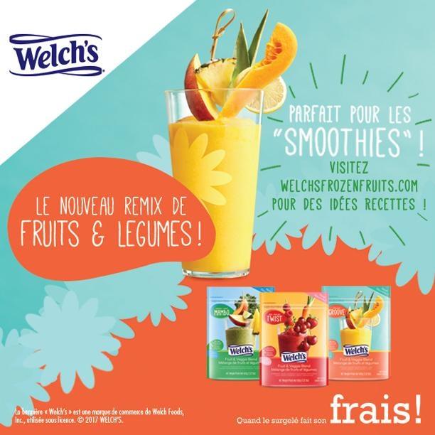 coupon rabais gratuit a imprimer sur le sac de fruits surgelés Welch