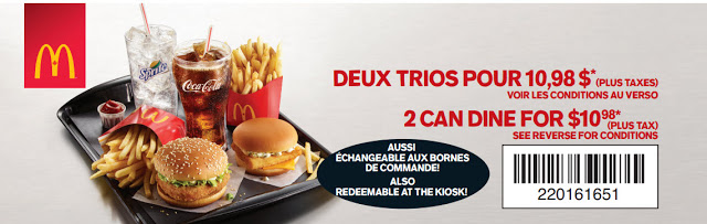 Les Coupons Rabais McDonald