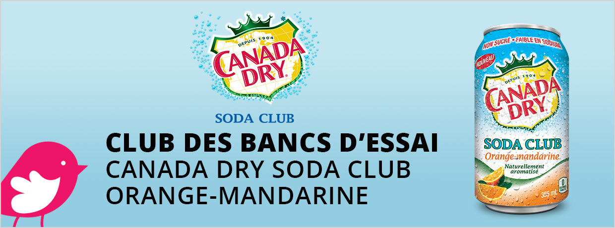 Soda Club Orange-Mandarine de Canada Dry Gratuit