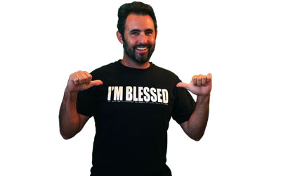 un t shirt i m blessed gratuit recevoir par la poste. Black Bedroom Furniture Sets. Home Design Ideas